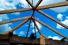 Construcción del tejado Imágenes de archivo libres de regalías