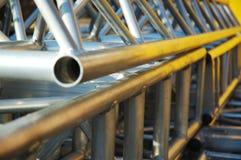 Construcción del tubo de Alluminium Fotos de archivo libres de regalías