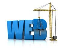 Construcción del Web Fotografía de archivo