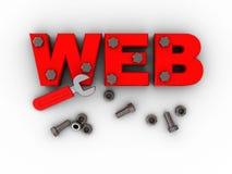 Construcción del Web Fotografía de archivo libre de regalías