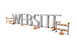 Construcción del Web site Foto de archivo