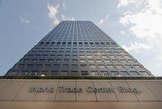 Construcción del World Trade Center Imagen de archivo