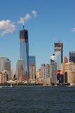 Construcción del World Trade Center Fotos de archivo libres de regalías