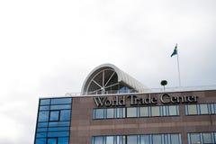 Construcción del World Trade Center Imágenes de archivo libres de regalías