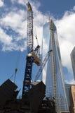 Construcción del World Trade Center, Nueva York Foto de archivo libre de regalías