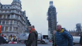 Construcción en Big Ben almacen de metraje de vídeo