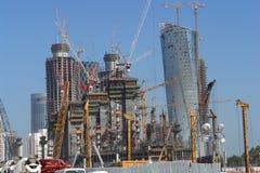 Construcción en Doha Qatar Foto de archivo