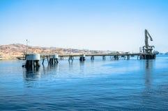 Construcción en Eilat para el trabajo con las cortes Foto de archivo libre de regalías