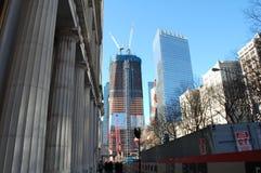 Construcción en el punto cero, New York City Foto de archivo libre de regalías