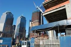 Construcción en el punto cero, New York City Fotografía de archivo