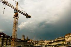 Construcción en Lausanne fotos de archivo libres de regalías