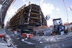 Construcción en Manhattan Imagen de archivo libre de regalías