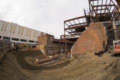 Construcción en Queens Imágenes de archivo libres de regalías