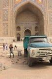 Construcción en Registan Foto de archivo