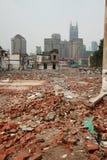 Construcción en Shangai Imagenes de archivo