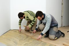 Construcción en un cuarto renovado Fotografía de archivo libre de regalías