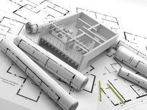 construcción Energías renovables Casas de las propiedades inmobiliarias?, planos para la venta o para el alquiler Imagen de archivo