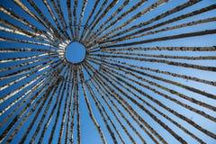 Construcción esquimal del tejado de la choza Fotos de archivo libres de regalías