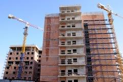 Construcción. Estructuras concretas. Foto de archivo libre de regalías