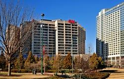 Construcción global de centro de las jefaturas de CNN exterior en Atlanta Georgia los E.E.U.U. Imagen de archivo