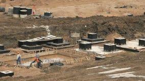 Construcción grande del complejo grande de edificios almacen de metraje de vídeo