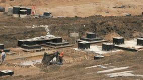 Construcción grande del complejo grande de edificios metrajes