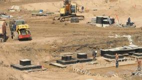 Construcción grande del complejo grande de edificios almacen de video