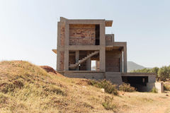 Construcción inacabada de una casa residencial imágenes de archivo libres de regalías