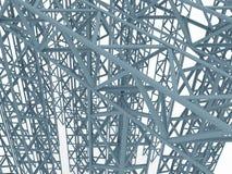 Construcción industrial 3d Fotografía de archivo libre de regalías