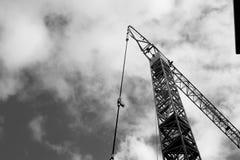 Construcción industrial de la grúa de edificios y de la máquina de las casas Fotografía de archivo