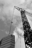 Construcción industrial de la grúa de edificios y de la máquina de las casas Imagen de archivo