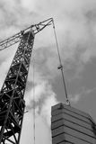 Construcción industrial de la grúa de edificios y de la máquina de las casas Fotos de archivo