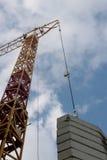 Construcción industrial de la grúa de edificios y de la máquina de las casas Foto de archivo libre de regalías