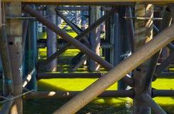 Construcción inundada con agua Foto de archivo libre de regalías