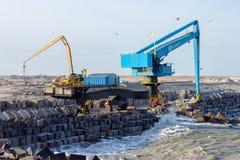 Construcción Maasvlakte 2 Fotos de archivo libres de regalías