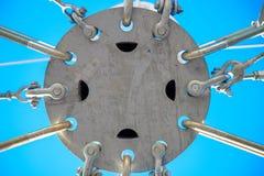 Construcción metálica de acero del hierro imagen de archivo libre de regalías