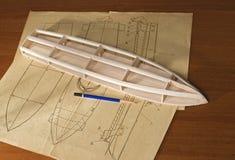 Construcción modelo de escala de la nave Imagen de archivo