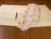 Construcción modelo de escala de la nave Imagen de archivo libre de regalías
