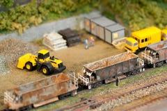 Construcción modelo del ferrocarril Fotografía de archivo libre de regalías