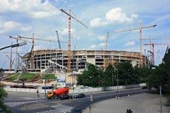 Construcción nacional del estadio foto de archivo