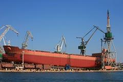 Construcción naval Imagen de archivo libre de regalías