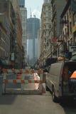 Construcción Nueva York del World Trade Center Foto de archivo libre de regalías