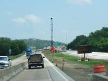 Construcción Oklahoma de la carretera foto de archivo