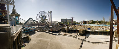 Construcción Panor de la aventura de Disneylandya California Foto de archivo libre de regalías