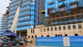 Construcción previa de Miami Beach del club de la resaca almacen de video
