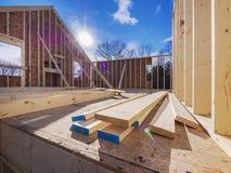 Construcción que enmarca de la nueva casa Imagen de archivo libre de regalías