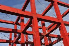 Construcción roja del hierro imagen de archivo libre de regalías