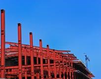 Construcción roja del metall Imagenes de archivo