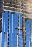Construcción. Satinado de la estructura concreta Fotos de archivo