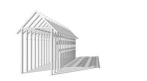 Construcción: sombra de la sombra Imágenes de archivo libres de regalías